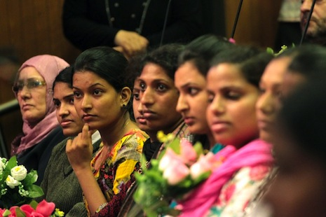 <p>Indian nurses like these have been arriving in numbers to fill a skills gap in Iraq since 2012 (file picture: AFP Photo/Ali Al-Saadi)</p>