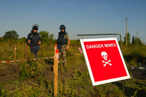 Pope urges total ban on use, production of landmines