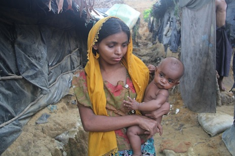 <p>Rohingya refugees in an unofficial camp in Cox&rsquo;s Bazar, Bangladesh (Rock Ronald Rozario)</p>