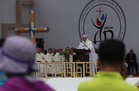 Pope urges Asian youth to keep their faith and national identity