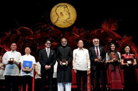 Asia's own 'Nobel Prize' honors pioneers and innovators