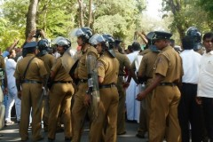 Sri Lankan police block march by families of disappeared