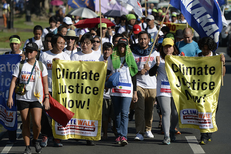 Philippine activists start 1,000-km march against global warming