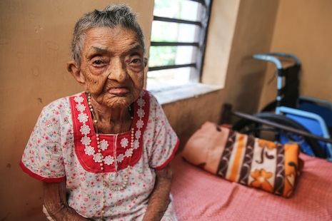 Oldest woman in India highlights plight of domestic workers