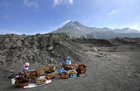 In shadows of Indonesian volcano, a winding road to recovery
