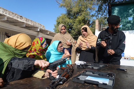 Teachers in one Pakistan province trained to use firearms