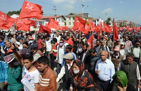 Violent clashes erupt in Nepal over draft constitution
