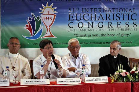 Cardinal Tagle appeals for International Eucharistic Congress donations