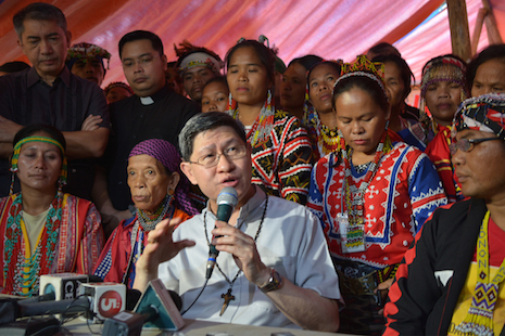 Philippine cardinal calls for troop withdrawal from tribal lands