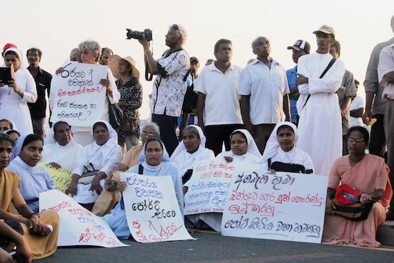 Sri Lankan protest demands end of divisive port project