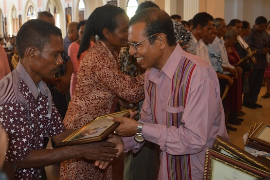 Timor-Leste bishop tells couples to stay true to their faith