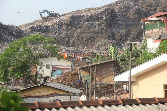Sri Lankan poor protested garbage dump before disaster