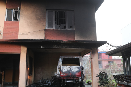 Arson attack on church in Nepal