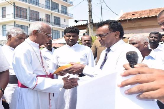 Tamil Catholics in Sri Lanka protest throughout Easter