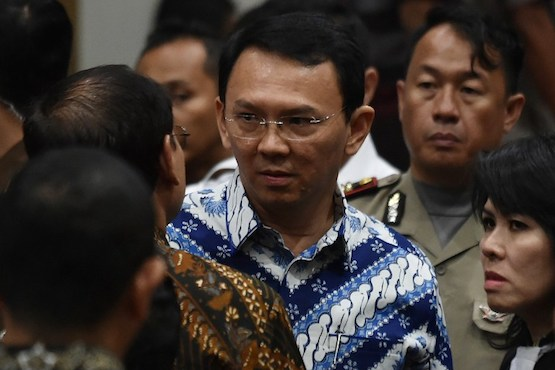 Jakarta's Christian governor sentenced to jail for blasphemy