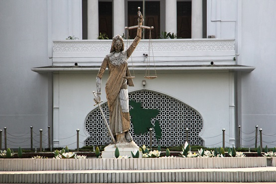 Lady Justice statue removed in Bangladesh after Islamist outcry