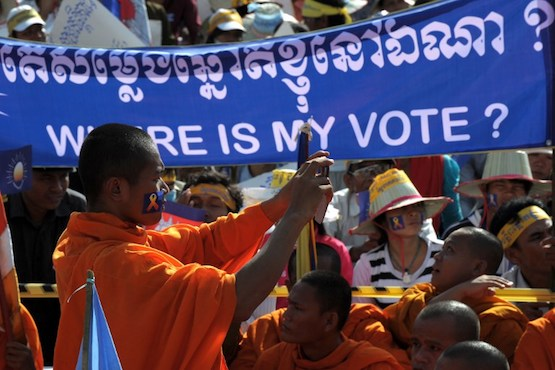 Buddhist monks detained over social media posts in Cambodia