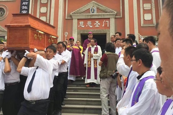 Uneven treatment for funerals of two Chinese bishops