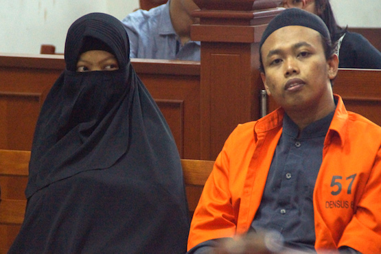 Indonesia court case sparks female suicide bomber fears