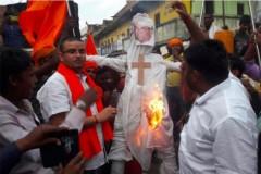 Burning of cardinal's effigy upsets Indian bishops