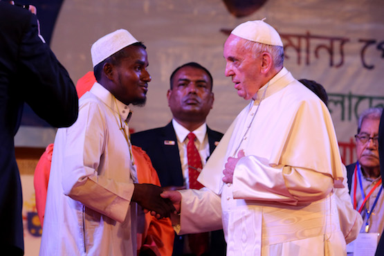 Pope Francis calls Rohingya 'presence of God today'