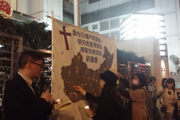 Christians pray for religious freedom in China