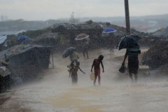 Rohingya refugees in Bangladesh face flooding