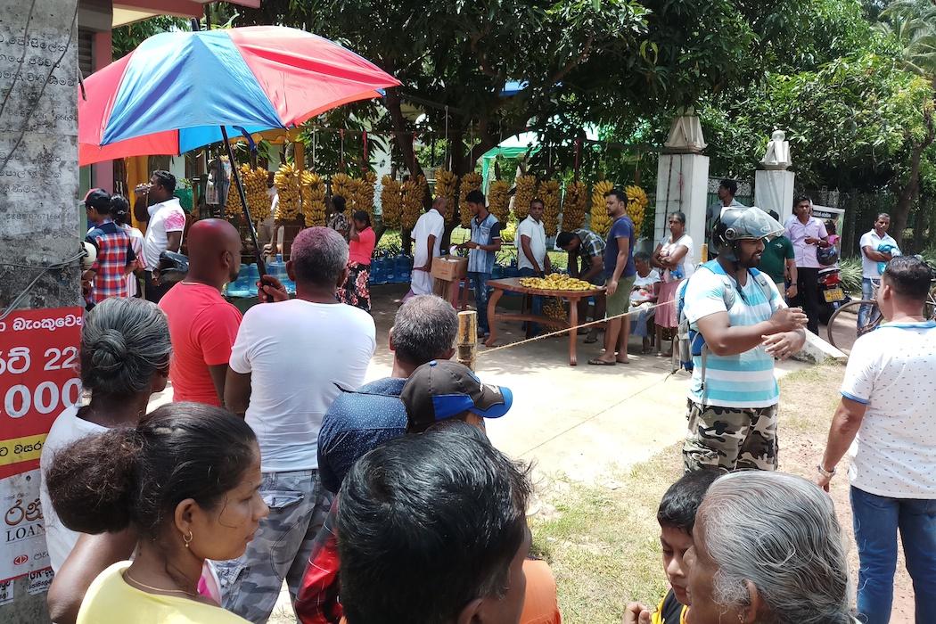 A greeting to alms: Sri Lanka unites on Buddhist festival