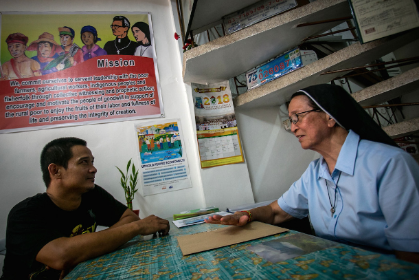 Filipino nun keeps on walking with the impoverished