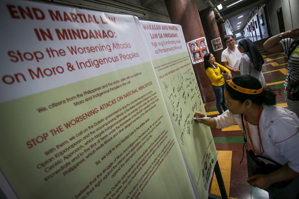Filipino Muslims, tribals start anti-martial law petition