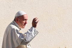 Pope Francis speaks to the Jesuits