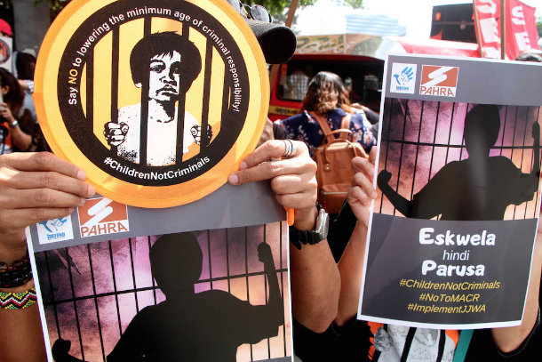 Opposition grows to Philippine bid to prosecute kids