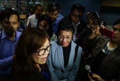 Filipino journalist spends night in jail in cyber libel case