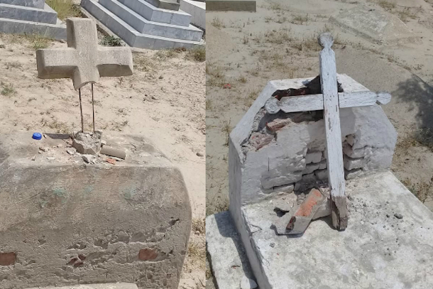 Christian graves desecrated in Pakistan