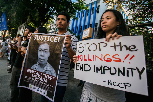 Church, rights groups demand justice for slain Filipino activists