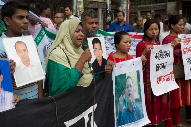 Bangladesh families demand return of missing loved ones