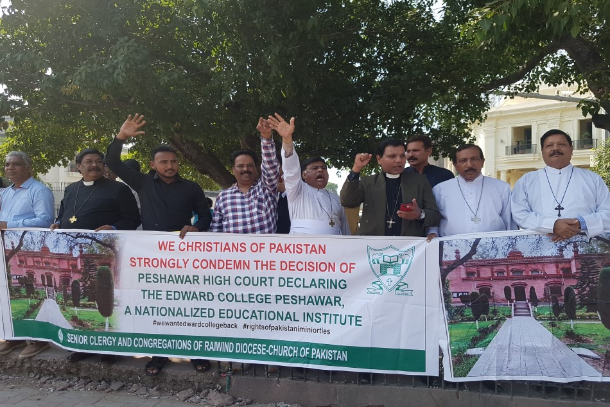 Protests in Pakistan for 'liberation' of Christian college