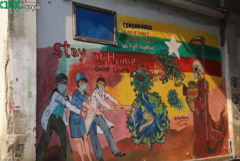 Myanmar artists face blasphemy charges for Covid-19 mural