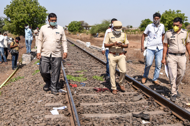 Indian migrants' misery exposed in train crushing 16 to death