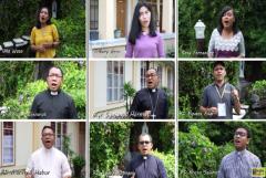 Indonesian bishop, priests sing for medical workers