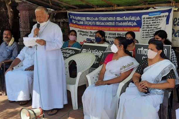 Indian bishops on hunger strike for educational rights