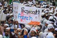 Hindu houses razed in Bangladesh over 'support' for French cartoons