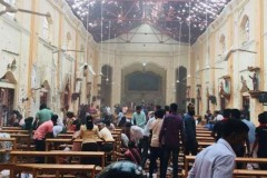 Catholics light candles for Sri Lanka's Easter bombing victims