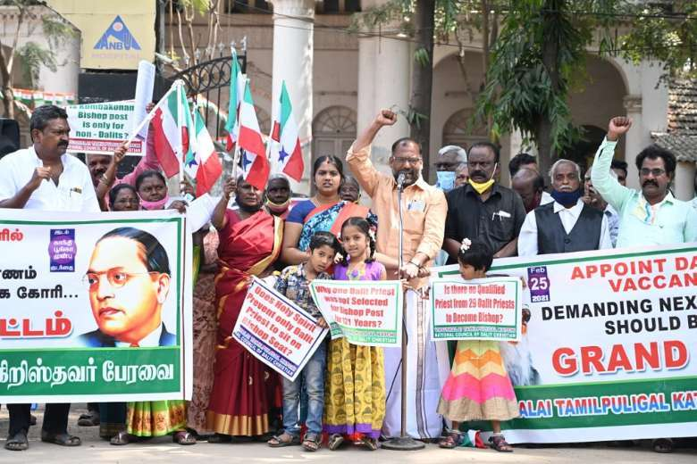Dalit Christians stage protest march in southern India