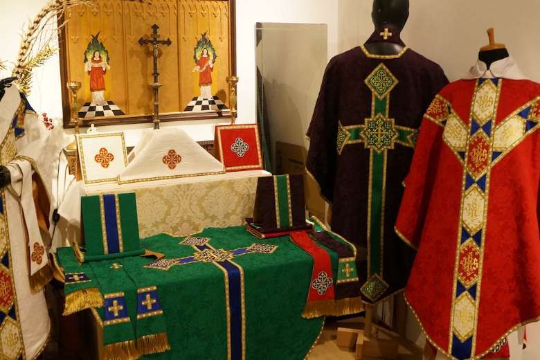 Malaysian Anglican makes Catholic vestments for the world