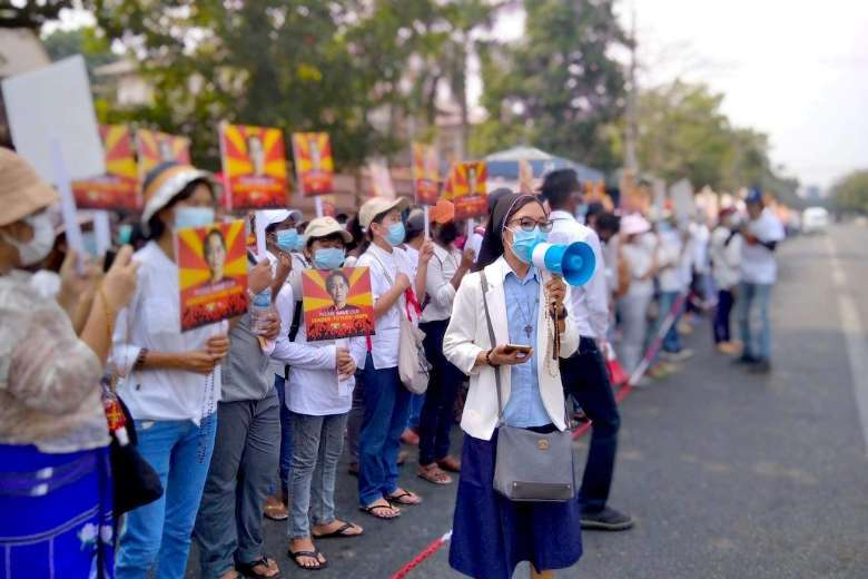 Nuns on the front line fight to save Myanmar's democracy