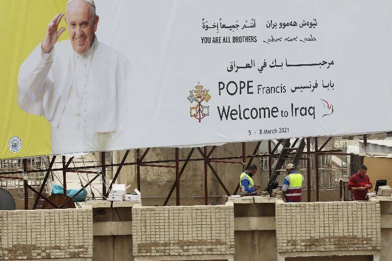 Pope Francis says he will ask God's forgiveness in Iraq