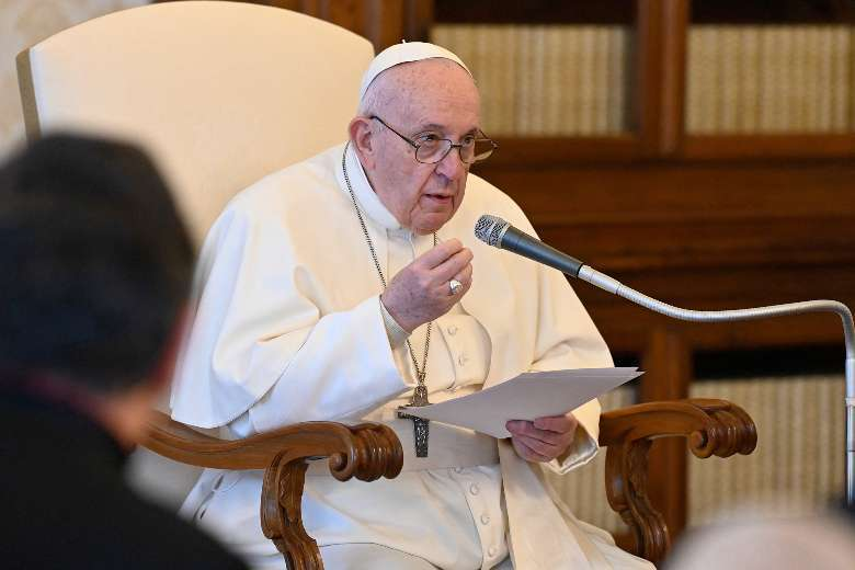 Faith is bolstered by prayer, not money or power, says pope