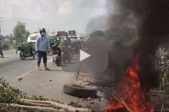 Cambodian soldiers open fire on land protesters