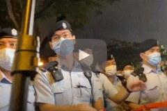 Police out in force as Hong Kong marks Tiananmen anniversary